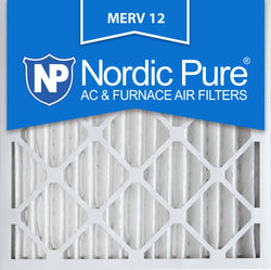 16x16x2 Pleated MERV 12 AC Furnace Filters Qty 3 - Nordic Pure