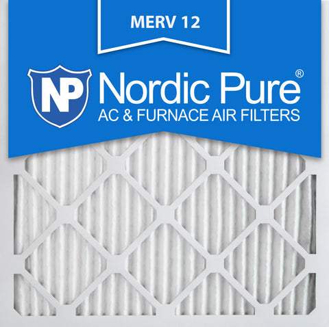 12x12x1 Pleated MERV 12 AC Furnace Filters Qty 6 - Nordic Pure