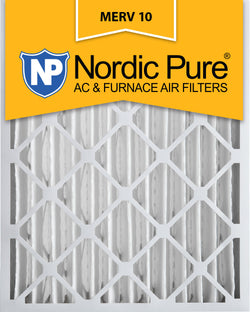 16x20x4 Pleated MERV 10 AC Furnace Filters Qty 1 - Nordic Pure