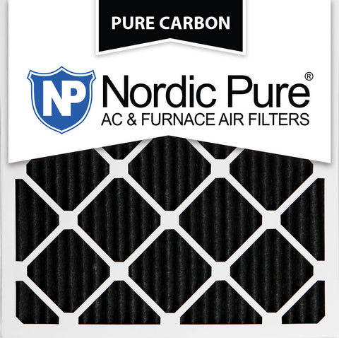 10x10x1 Pure Carbon Pleated AC Furnace Filters Qty 12 - Nordic Pure