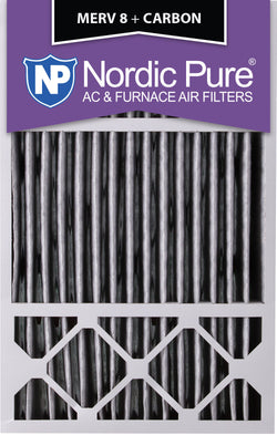 16x25x5 Honeywell Replacement Pleated MERV 8 Plus Carbon Qty 2 - Nordic Pure