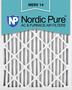 12x20x2 Pleated MERV 14 AC Furnace Filters Qty 3 - Nordic Pure