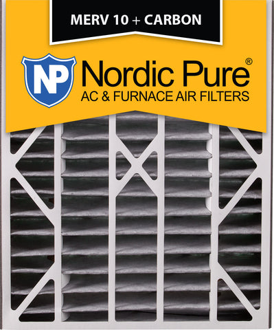 20x25x5 Air Bear Replacement MERV 10 Pleated Plus Carbon Qty 2 - Nordic Pure
