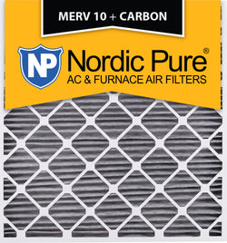 30x32x2 Geothermal MERV 10 Pleated Plus Carbon AC Furnace Filters Qty 3 - Nordic Pure