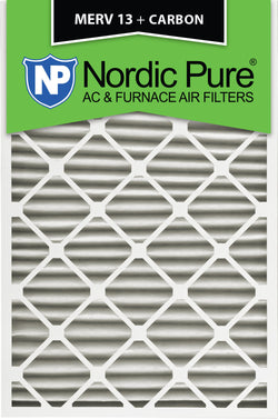 24x30x2 MERV 13 Plus Carbon AC Furnace Filters Qty 3 - Nordic Pure