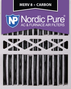 16x20x5 Honeywell Replacement Pleated MERV 8 Plus Carbon Qty 2 - Nordic Pure