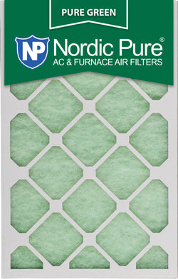 12x18x1 Pure Green AC Furnace Air Filters Qty 12 - Nordic Pure