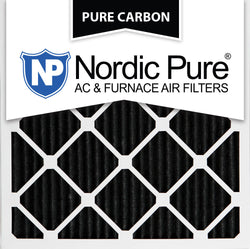 14x14x1 Pure Carbon Pleated AC Furnace Filters Qty 3 - Nordic Pure