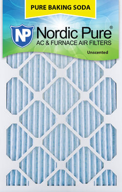 15x20x1 Pure Baking Soda AC Furnace Air Filters Qty 3 - Nordic Pure