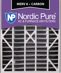 20x25x5 Air Bear Replacement MERV 8 Pleated Plus Carbon Qty 1 - Nordic Pure