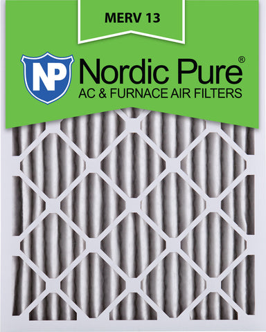 10x20x2 Pleated MERV 13 AC Furnace Filters Qty 3 - Nordic Pure