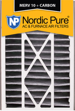 16x25x5 Air Bear Replacement MERV 10 Pleated Plus Carbon Qty 2 - Nordic Pure