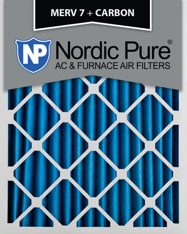 10x20x2 MERV 7 Plus Carbon AC Furnace Filters Qty 3 - Nordic Pure
