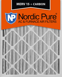 16x25x4 MERV 15 Plus Carbon AC Furnace Filters Qty 2 - Nordic Pure