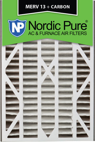 16x25x3 Air Bear Cub Replacement MERV 13 Plus Carbon Qty 7 - Nordic Pure