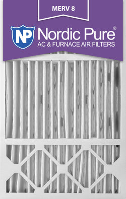 16x25x5 Honeywell Replacement Pleated MERV 8 Air Filters Qty 4 - Nordic Pure