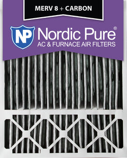 20x25x5 Honeywell Replacement Pleated MERV 8 Plus Carbon Qty 2 - Nordic Pure