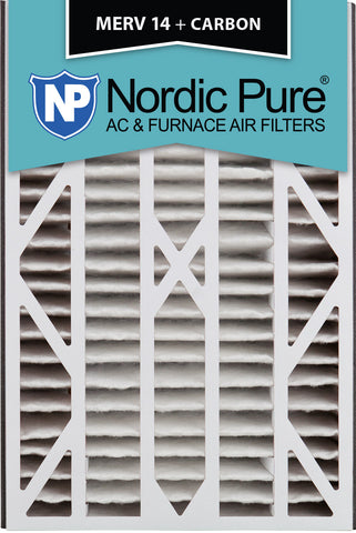 16x25x3 Air Bear Cub Replacement MERV 14 Plus Carbon Qty 7 - Nordic Pure