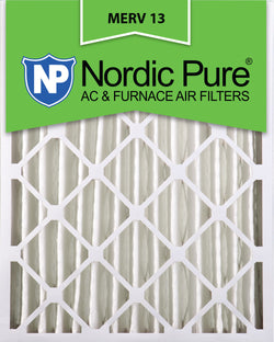 16x20x4 Pleated MERV 13 AC Furnace Filters Qty 2 - Nordic Pure