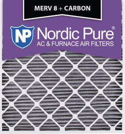 30x32x2 Geothermal MERV 8 Pleated Plus Carbon AC Furnace Filters Qty 3 - Nordic Pure