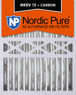 16x20x5 Honeywell Replacement Merv 15 Plus Carbon Qty 2 - Nordic Pure