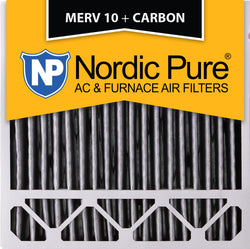 20x20x5 Honeywell Replacement Pleated MERV 10 Plus Carbon Qty 4 - Nordic Pure