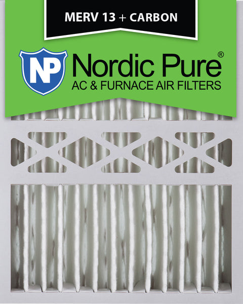 16x20x5 Honeywell Replacement Merv 13 Plus Carbon Qty 2 - Nordic Pure