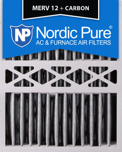 16x20x5 Honeywell Replacement Pleated MERV 12 Plus Carbon Qty 2 - Nordic Pure