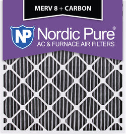 28x30x2 Geothermal MERV 8 Pleated Plus Carbon AC Furnace Filters Qty 3 - Nordic Pure