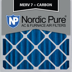 20x20x4 MERV 7 Plus Carbon AC Furnace Filters Qty 2 - Nordic Pure