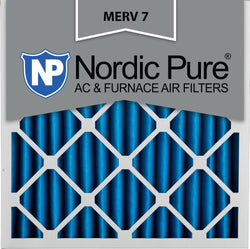 25x25x2 Pleated MERV 7 AC Furnace Filters Qty 3 - Nordic Pure