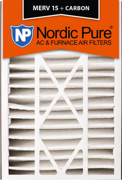 16x25x5 Air Bear Replacement MERV 15 Plus Carbon Qty 2 - Nordic Pure