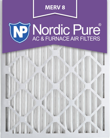 10x20x2 Pleated MERV 8 AC Furnace Filters Qty 3 - Nordic Pure