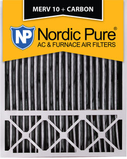 20x25x5 Lennox X6673_X6675 Replacement Air Filters MERV 10 Pleated Plus Carbon Qty 4 - Nordic Pure
