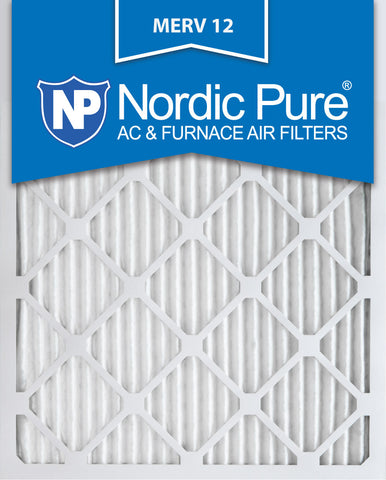 10x24x1 Pleated MERV 12 AC Furnace Filters Qty 12 - Nordic Pure