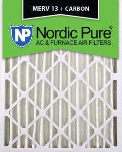 16x20x4 MERV 13 Plus Carbon AC Furnace Filters Qty 2 - Nordic Pure