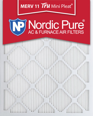 10x20x1 Tru Mini Pleat MERV 11 AC Furnace Air Filters Qty 3 - Nordic Pure