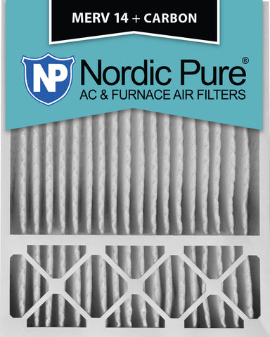 20x25x5 Honeywell Replacement MERV 14 Plus Carbon Qty 4 - Nordic Pure