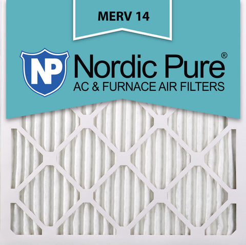 12x12x1 Pleated MERV 14 AC Furnace Filters Qty 24 - Nordic Pure
