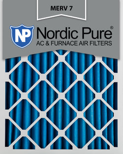 12x20x2 Pleated MERV 7 AC Furnace Filters Qty 3 - Nordic Pure