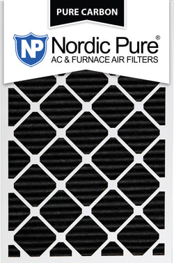 12x30x1 Pure Carbon Pleated AC Furnace Filters Qty 3 - Nordic Pure
