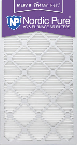 16x30x1 Tru Mini Pleat Merv 8 AC Furnace Air Filters Qty 3 - Nordic Pure