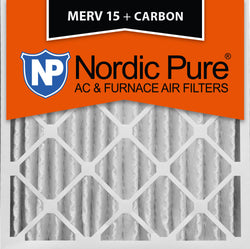 20x20x4 MERV 15 Plus Carbon AC Furnace Filters Qty 2 - Nordic Pure