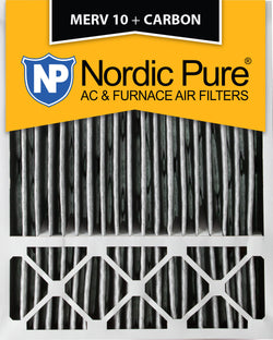 20x25x5 Honeywell Replacement Pleated MERV 10 Plus Carbon Qty 2 - Nordic Pure