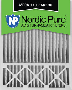20x25x5 Honeywell Replacement MERV 13 Plus Carbon Qty 2 - Nordic Pure