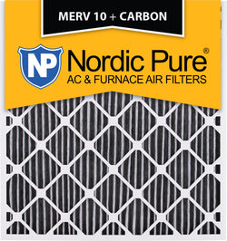 28x30x2 Geothermal MERV 10 Pleated Plus Carbon AC Furnace Filters Qty 3 - Nordic Pure