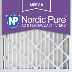 25x25x2 Pleated MERV 8 AC Furnace Filters Qty 3 - Nordic Pure