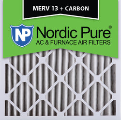 25x25x2 MERV 13 Plus Carbon AC Furnace Filters Qty 3 - Nordic Pure
