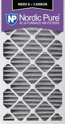 16x30x2 Pleated MERV 8 Plus Carbon AC Furnace Filters Qty 3 - Nordic Pure