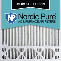 20x20x5 Honeywell Replacement MERV 14 Plus Carbon Qty 4 - Nordic Pure